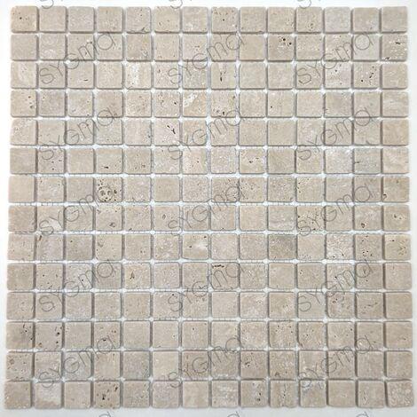 Carrelage en pierre travertin pour sol ou mur salle de bain et cuisine Ektor