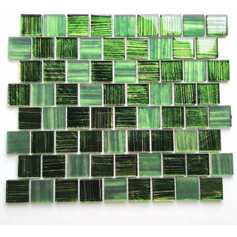 carrelage en verre mosaique salle de bain et cuisine Drio vert