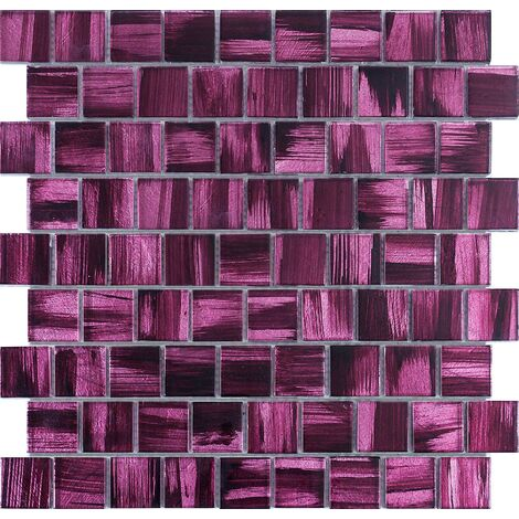carrelage en verre mosaique salle de bain et cuisine mv-drio-violet