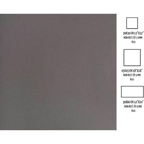 Novoceram Standard Evolution Carrelage Exterieur Antiderapant En Gres Cerame Pleine Masse 30x30cm Gris Fonce