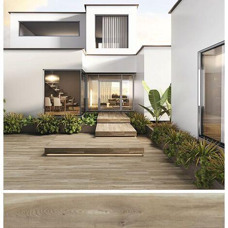 Carrelage extérieur effet bois 20x160 BELFAST TEAK ANTIDERAPANT R11 - 1.28 m²
