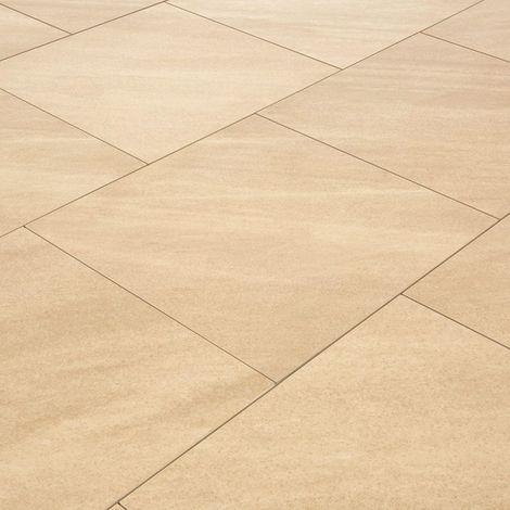 Carrelage exterieur spécial plots terrasse - 60 X 60 cm - Beige Dune