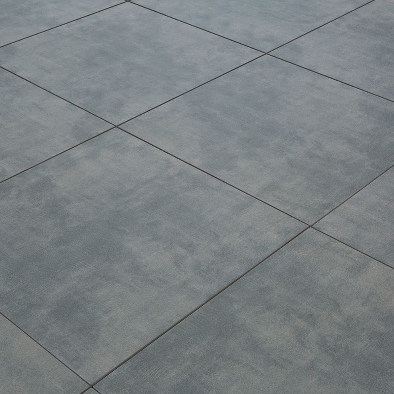 Carrelage Exterieur Spécial Plots Terrasse 60 X 60 Cm Gris Béton Ciré