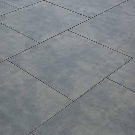 Carrelage exterieur spécial plots terrasse - 60 X 60 cm - Gris Béton ciré