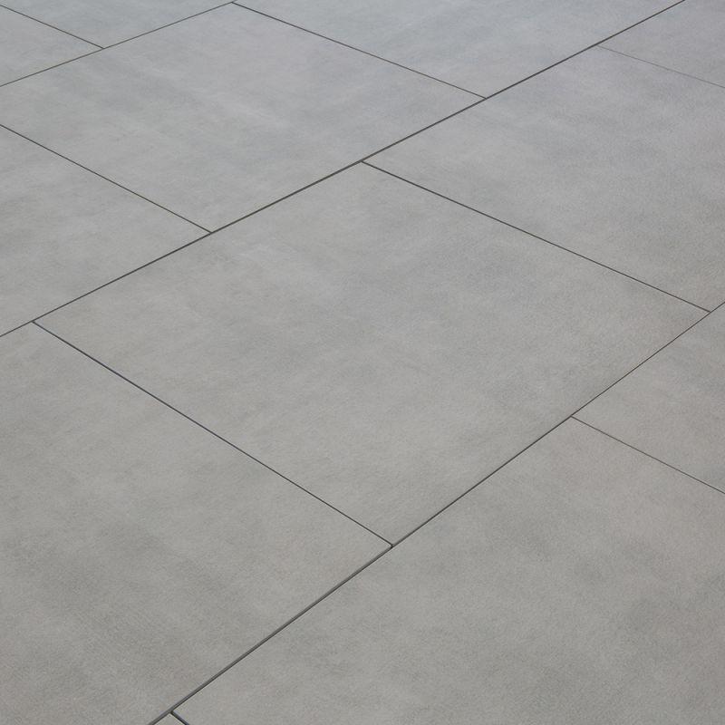 Carrelage Exterieur Spécial Plots Terrasse 60 X 60 Cm Gris Brut