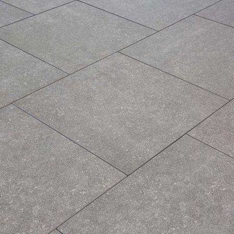 Carrelage exterieur spécial plots terrasse - 60 X 60 cm - Gris Fossile
