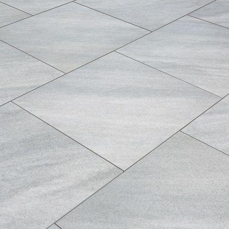 Carrelage exterieur spécial plots terrasse - 60 X 60 cm - Gris Marbre Italien