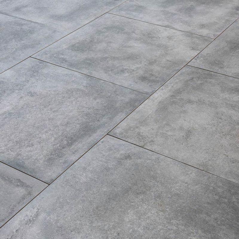 Carrelage Exterieur Spécial Plots Terrasse 80 X 80 Cm Gris Ardoise