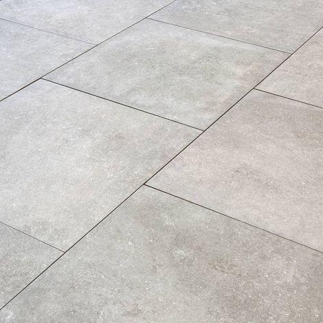 Carrelage Exterieur Spécial Plots Terrasse 80 X 80 Cm Gris Moon