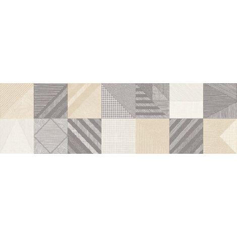 Carrelage faïence décorée 29.75x99.5 - Rectifié - FABRIQUE ORNATO - Épaisseur : 0.74cm - 1.48m²