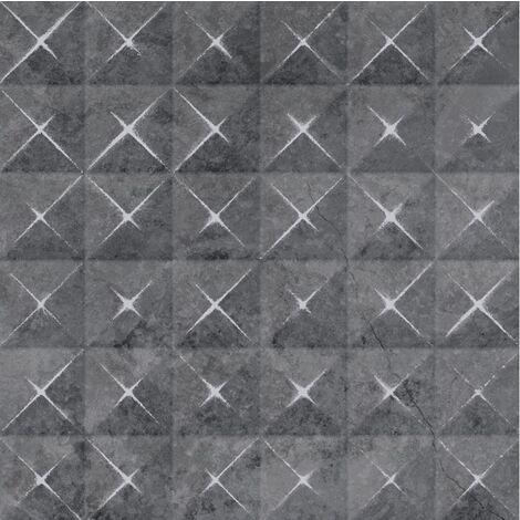 Carrelage grès cérame aux décors multiples aspect pierre LAIA LENAR BASALTO 29,3x29,3 - 0,94 m²