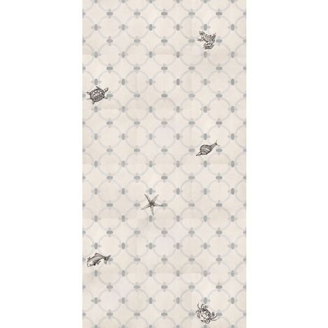 Carrelage gris ciment petits animaux 20x20 cm MACAYA - 1m²
