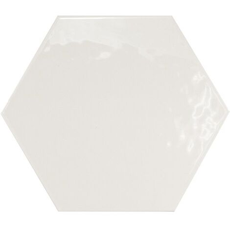 Carrelage hexagonal 17.5x20 Tomette design HEXATILE BLANC Brillant 20519 0.71m²