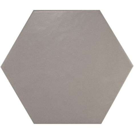 Carrelage hexagonal 17.5x20 Tomette design HEXATILE GRIS UNI 20340 0.71m²