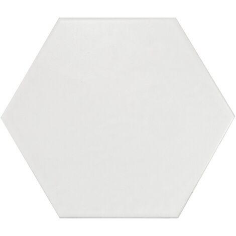 Carrelage hexagonal 17.5x20 Tomette design HEXATILE IVOIRE - BLANC CASSE MAT 20339 – 0.71m²