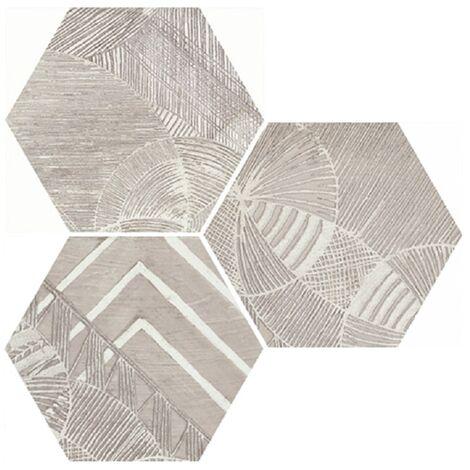 Carrelage hexagonal aspect végétal NORTH SAND DECOR 25x30 cm - 0.935m²