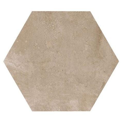 Carrelage hexagonal beige marron 29.2x25.4cm URBAN HEXAGON NUT 23513 R9 - 1m²