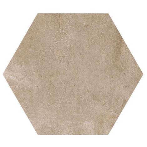 Carrelage hexagonal beige marron ANTIDÉRAPANT 29.2x25.4cm URBAN HEXAGON NUT 23519 - 1m²