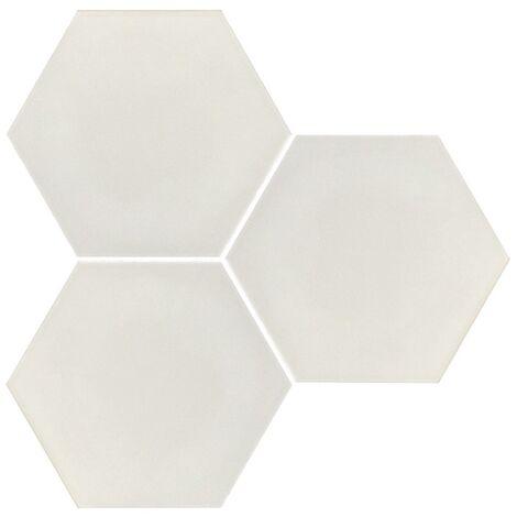 Carrelage hexagonal blanc mate INTUITION WHITE NAT - 25x30 cm - R10 - 0.935m²