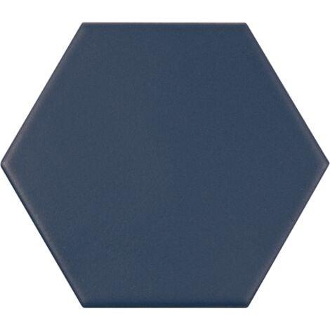 Carrelage hexagonal bleu roi KROMATIKA NAVAL BLUE R10 - 11.6x10.1 cm - 26469 - 0.43 m²