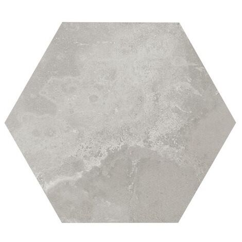 Carrelage hexagonal gris 29.2x25.4cm URBAN HEXAGON SILVER 23514 R9 - 1m²