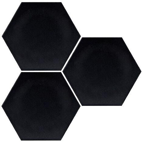Carrelage hexagonal noir mate INTUITION BLACK NAT - 25x30 cm - R10 - 0.935m²