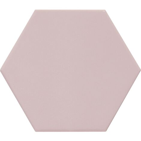 Carrelage hexagonal rose KROMATIKA ROSE R10 - 11.6x10.1cm - 26465 - 0.43 m²