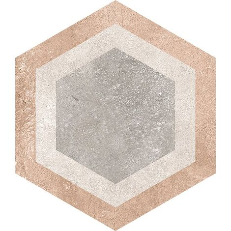 Carrelage hexagonal tomette decor 23x26.6cm BUSHMILLS - 0.504m²