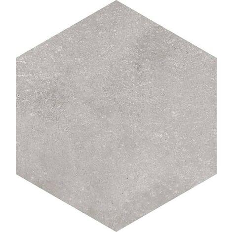 carrelage hexagonal tomette grise vieillie 23x26.6cm rift cemento