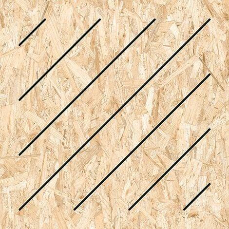 Carrelage imitation bois aggloméré MASAI-R Grafito 59.3X59.3 cm - 1.06 m²