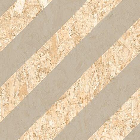 Carrelage imitation bois aggloméré NENETS CEMENTO 59.3X59.3 cm - 1.06 m²