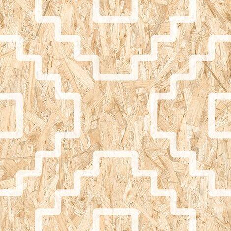 Carrelage imitation bois aggloméré SERIAKI-R BLANC 59.3X59.3 cm - 1.06 m²