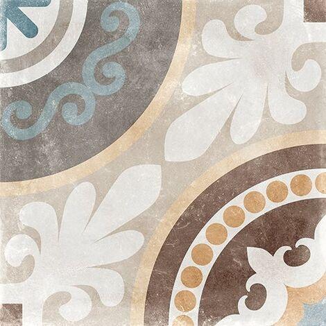 Carrelage imitation carreau de ciment ancien décor Grès Cérame 60x60 cm NAOS - 1.44m²