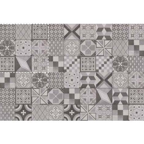 Carrelage imitation carreaux de ciment moderne rectifié SOCORE MIX F DECORO 60X60- 1,44 m²