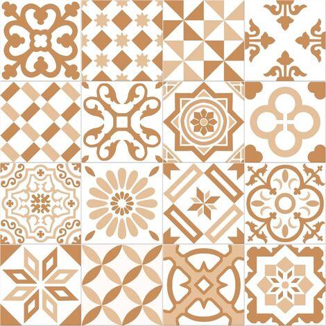 Carrelage imitation ciment beige et blanc mix 20x20 cm ANTIGUA BEIGE -R10- 1m²