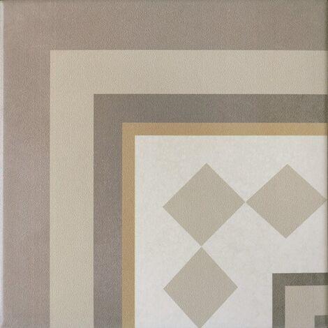Carrelage imitation ciment beige taupe 20x20 cm CAPRICE LOIRE ANGLE 20937 - unité