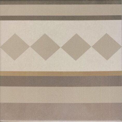 Carrelage imitation ciment beige taupe 20x20 cm CAPRICE LOIRE BORDURE 20936 - 1m²