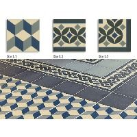 Carrelage imitation ciment cube 20x20 cm GUELL - 1m² Angle Guell-3 (1 unite)