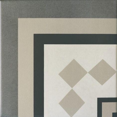 Carrelage imitation ciment cube gris blanc 20x20 cm CAPRICE PROVENCE ANGLE - unité