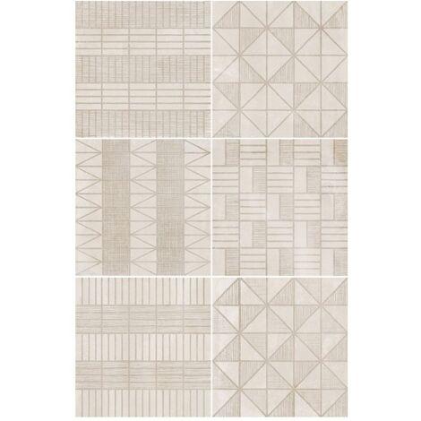 Carrelage imitation ciment décor beige 20x20cm URBAN HANDMADE NATURAL 23593 - 1m²