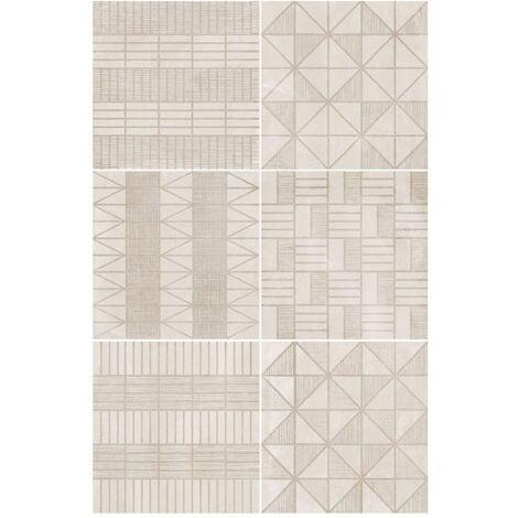 Carrelage imitation ciment décor beige 20x20cm URBAN HANDMADE NATURAL 23593 R9 - 1m²