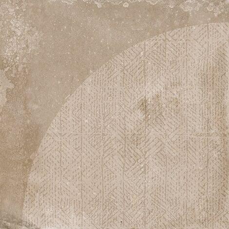 Carrelage imitation ciment décor beige marron 20x20cm URBAN ARCO NUT 23586 R9 - 1m²