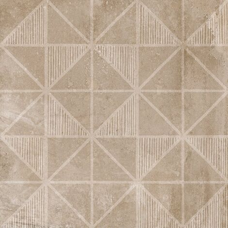 Carrelage imitation ciment décor beige marron 20x20cm URBAN HANDMADE NUT 23594 R9 - 1m²