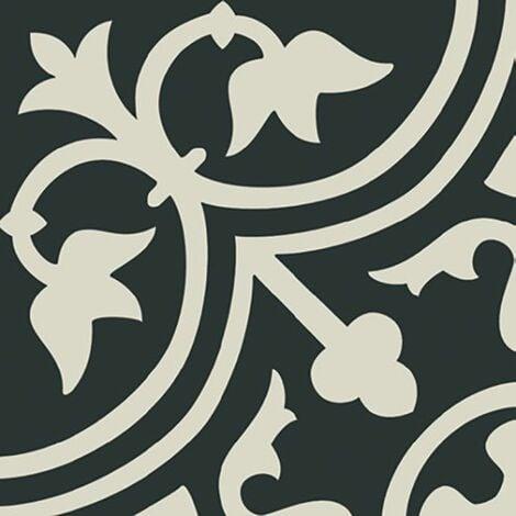 Carrelage imitation ciment décor blanc 20x20 cm PASION BLANCO - 1m²