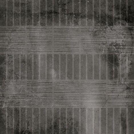 Carrelage imitation ciment décor noir 20x20cm URBAN HANDMADE DARK 23596 - 1m²