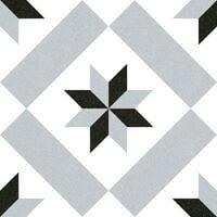 Carrelage imitation ciment etoile grise et noire 20x20 cm CALVET - 1m²
