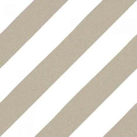 Carrelage imitation ciment rayure beige foncé 20x20 cm GOROKA MUSGO - 1m²