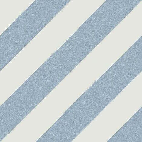 Carrelage imitation ciment rayures bleu 20x20 cm GOROKA CIELO - 1m²