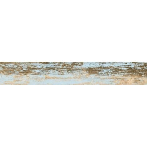 Carrelage imitation parquet bleu rectifie vieilli mat YOGO CIELO 14.4x89.3 - 1.29m²