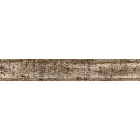 Carrelage imitation parquet marron rectifié vieilli mat FARO TIERRA 14.4x89.3 - 1.29m²